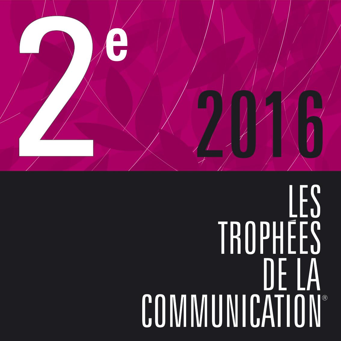trophée de la communication 2016